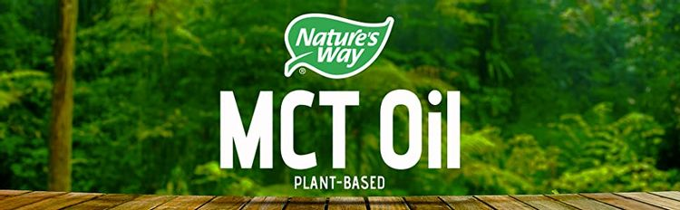 Nature's Way MCT Oil banner on scenic background