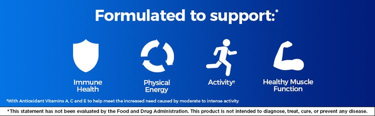 Immune health, physical energy, activity, healthy muscle function