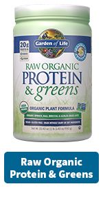 raw organic proteins and greens
