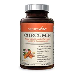 NatureWise Curcumin Turmeric 1650mg with 95% Curcuminoids & BioPerine Black Pepper Extract, Advanced