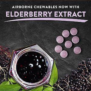 Airborne Elderberry Extract Vitamin C Chewable Tablets