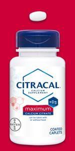Citracal Maximum caplets sugar free natural citrical caltrate citrate carbonate supplement vitamin D