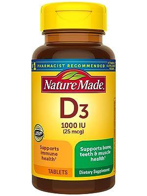 Nature Made Vitamin D3 25 mcg (1000 IU) Tablets