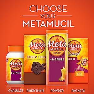 metamucil, fiber