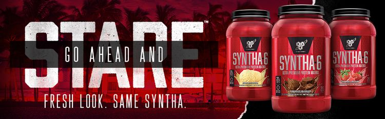 SYNTHA-6 is an ultra-premium protein powder with 22g protein per serving. FRESH LOOK. SAME SYNTHA