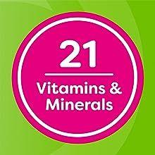 21 vitamins and minerals