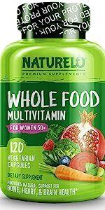 NATURELO Whole Food Multivitamin for Women 50+